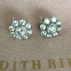 Authentic Judith Ripka Sterling Silver Earrings